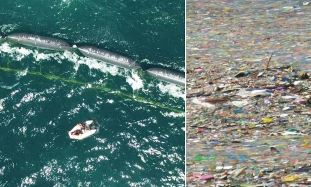 """Conoce a la """"serpiente gigante"""" con la que científicos holandeses quieren limpiar la gran isla de basura del Pacífico"""
