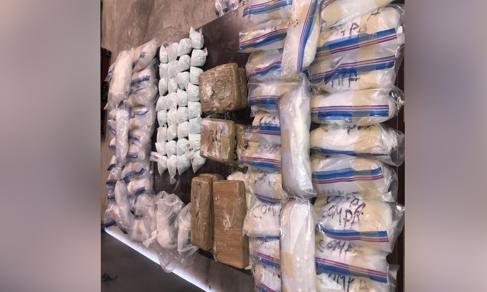 Decomisan fuerte cargamento de fentanilo, metanfetaminas, heroína blanca y negra en Tijuana