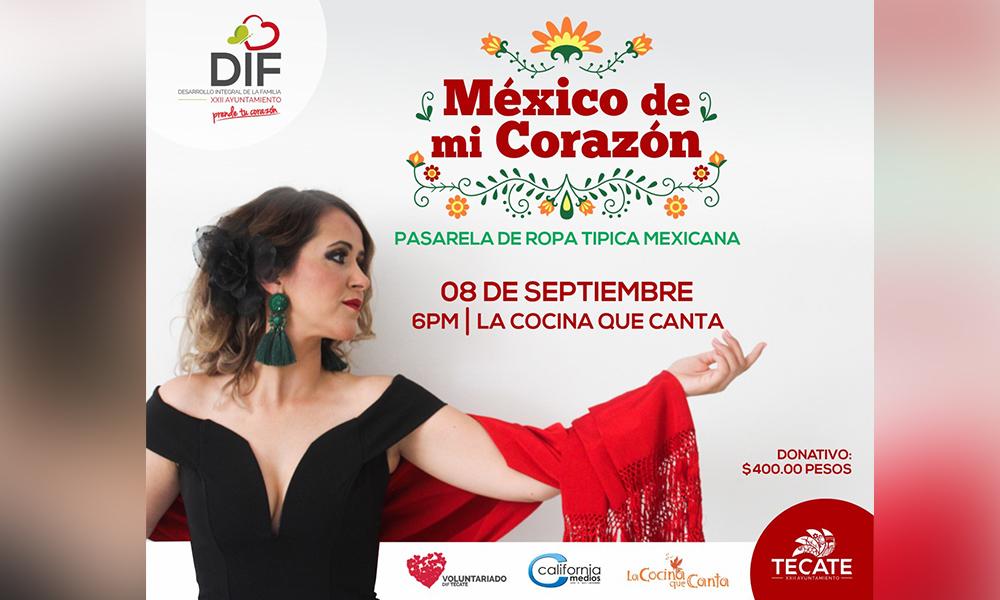 """Invita DIF Tecate a la pasarela con causa """"México de mi Corazón"""""""