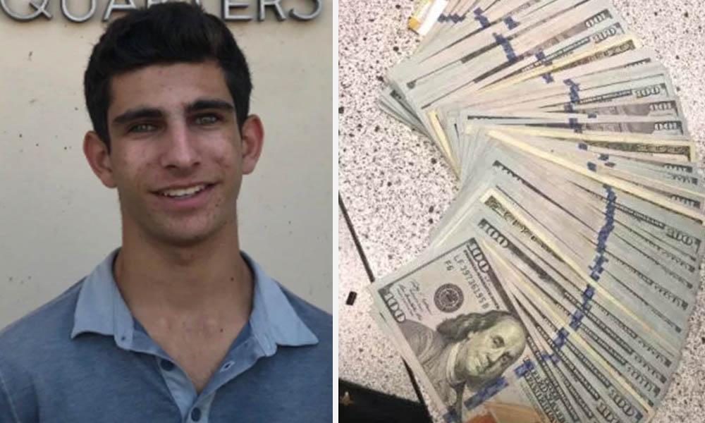¡Sorprendente! Joven encuentra bolso con 10 mil dólares y lo regresa a su dueño