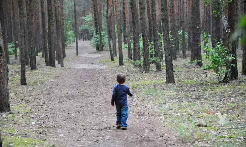Pareja abandona a su hijo de 5 años en carretera del bosque como castigo por orinarse dentro del carro