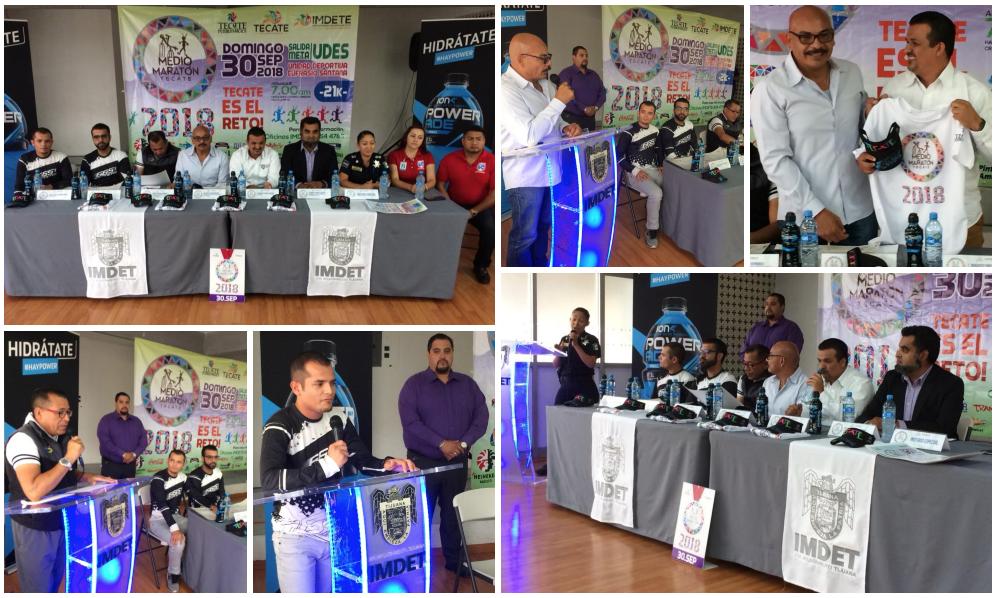 Dan a conocer el Medio Maratón 2018 a realizarse en Tecate