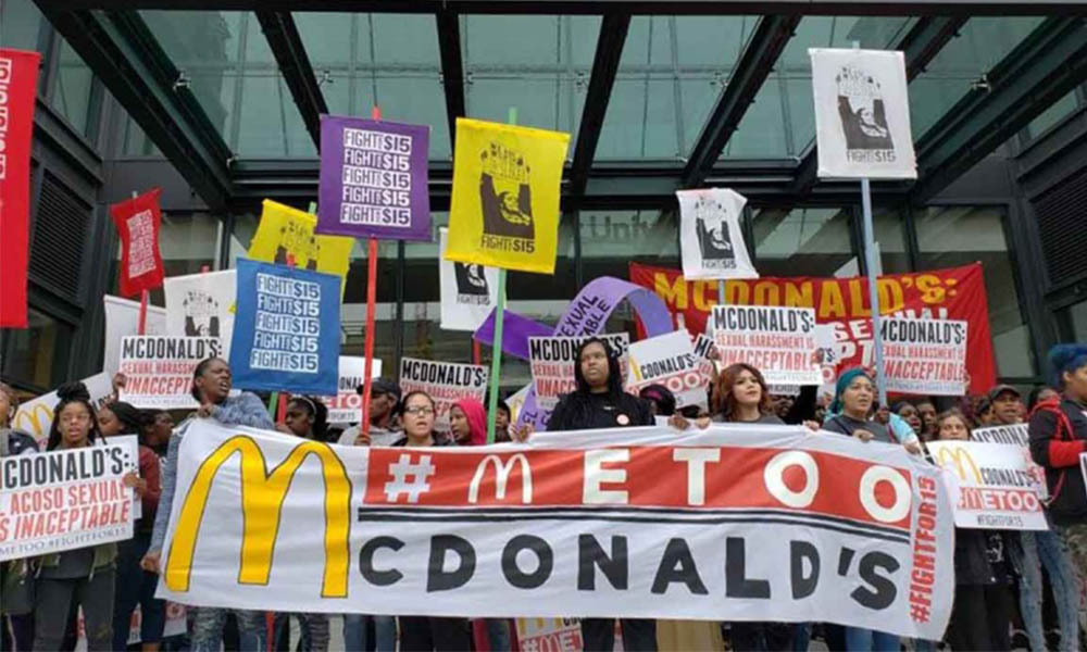 Empleadas de McDonald's realizaron huelga en 10 Estados de EEUU tras acoso sexual