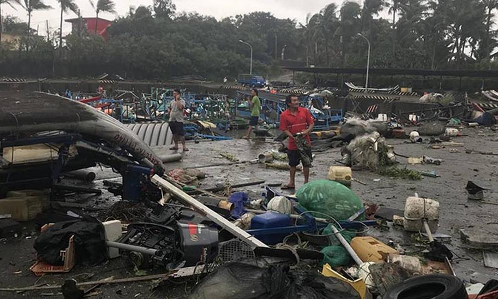 """Tifón """"Mangkhut"""" arrasa Taiwán dejando al menos 8 muertos"""
