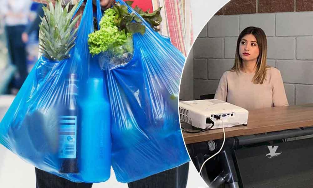 Presentan iniciativaDesembólsate BC a comerciantes; buscan concientizar sobre el uso de la bolsa de plástico enTecate