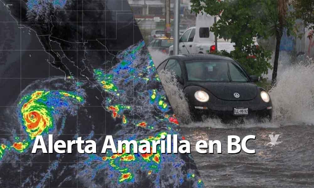 """Declaran alerta Amarilla en Baja California por Tormenta Tropical """"Rosa""""; emiten recomendaciones"""