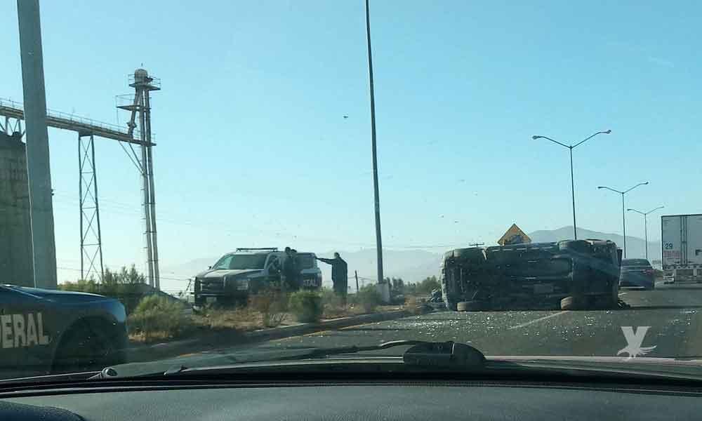 Accidente en carretera Tecate-Tijuana Libre a la altura de la Academia de Policías