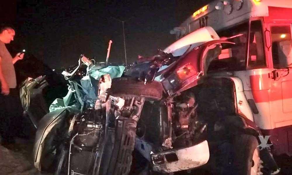 Accidente en Vía Rápida Tijuana deja saldo de 8 personas lesionadas, una se reporta grave