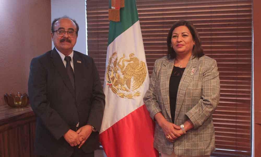 Alcaldesa de Tecate, Nereida Fuentes sostiene reunión con Consejero Presidente del IEEBC
