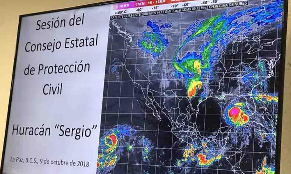 """Alerta por huracán """" Sergio"""" el cual provocará lluvias intensas en BCS"""