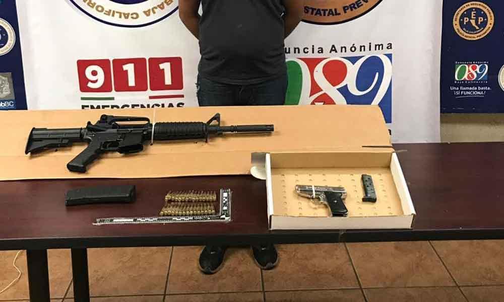 Individuo es arrestado en posesión de arma de fuego en Mexicali