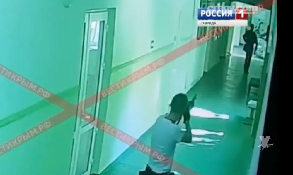 (VIDEO) Muestran cómo un alumno mató a 20 personas dentro de una escuela