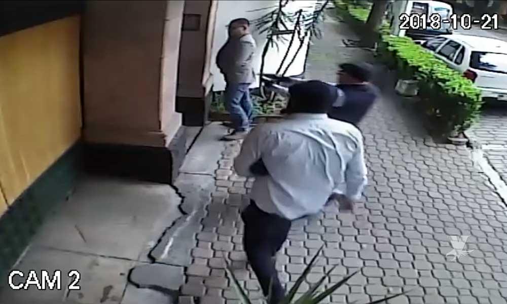 (VIDEO) Así fue el ataque contra el escolta del Cardenal Norberto Rivera