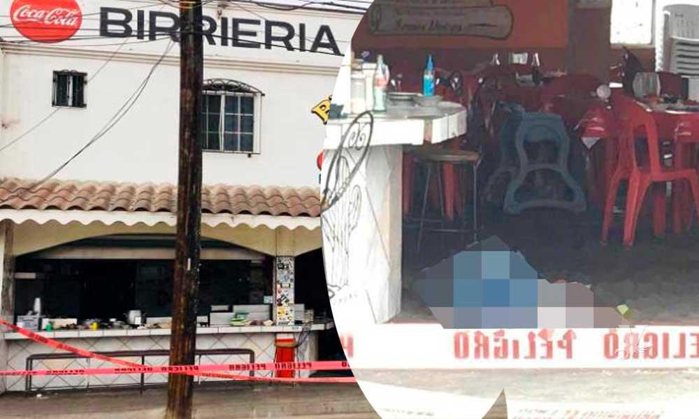 (VIDEO) Asesinan a hombre en el interior de conocida birriería de Rosarito