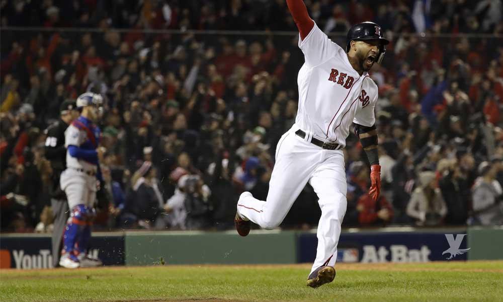 """Boston """"apalea"""" a pitchers de Dodgers y gana el primero juego de la Serie Mundial"""