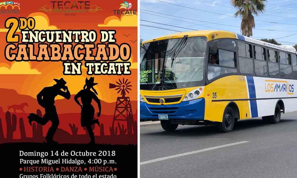 """Brindarán transporte gratuito para asistir al """"2do Encuentro de Calabaceado"""" en Tecate"""