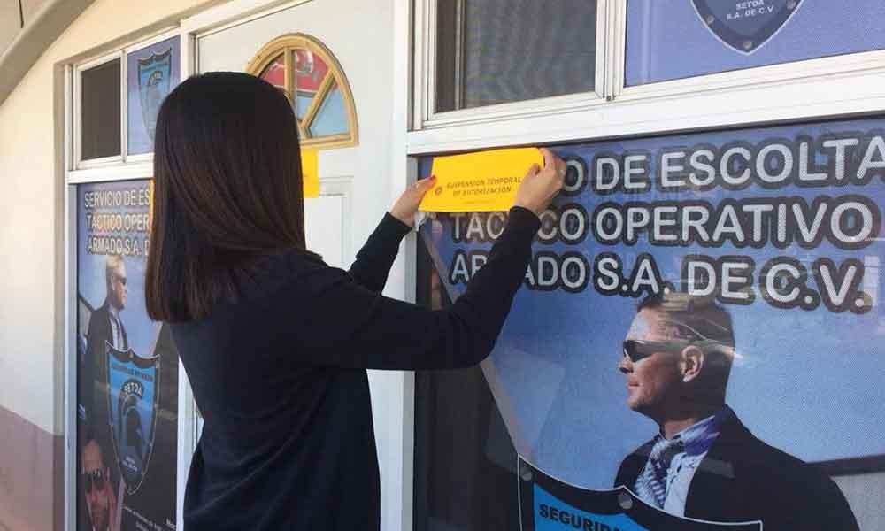 Clausuran una empresa de seguridad privada en Tecate