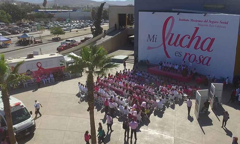 IMSS celebra la disminución de muerte por cáncer de mama en Tijuana