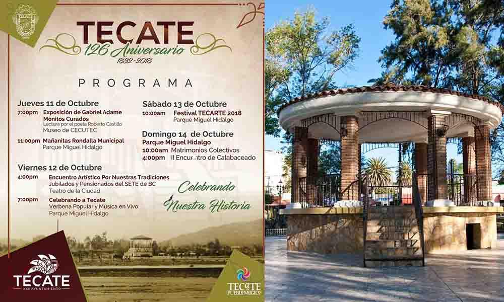 Celebrarán 126 aniversario de Tecate con grandes presentaciones artísticas