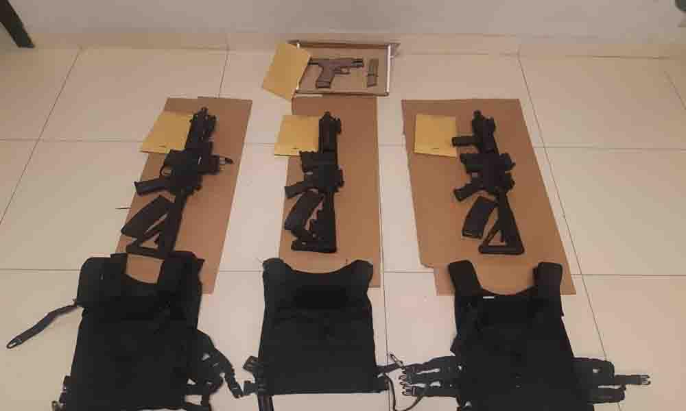 Decomisan 7 kilos de droga y armas de alto poder en Tijuana