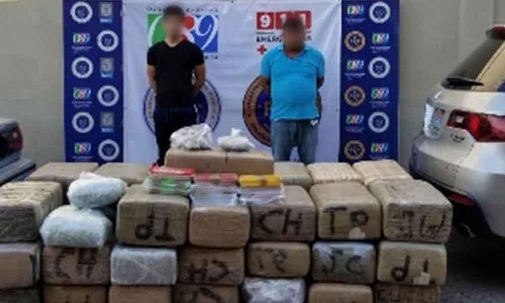 Decomisan cargamento de droga en Mexicali; hay dos detenidos