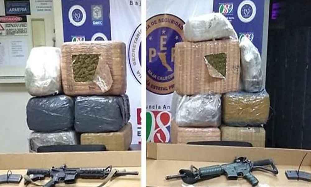 """Detienen con droga a dos presuntos integrantes de la banda """"Los Garibay"""" en Mexicali"""