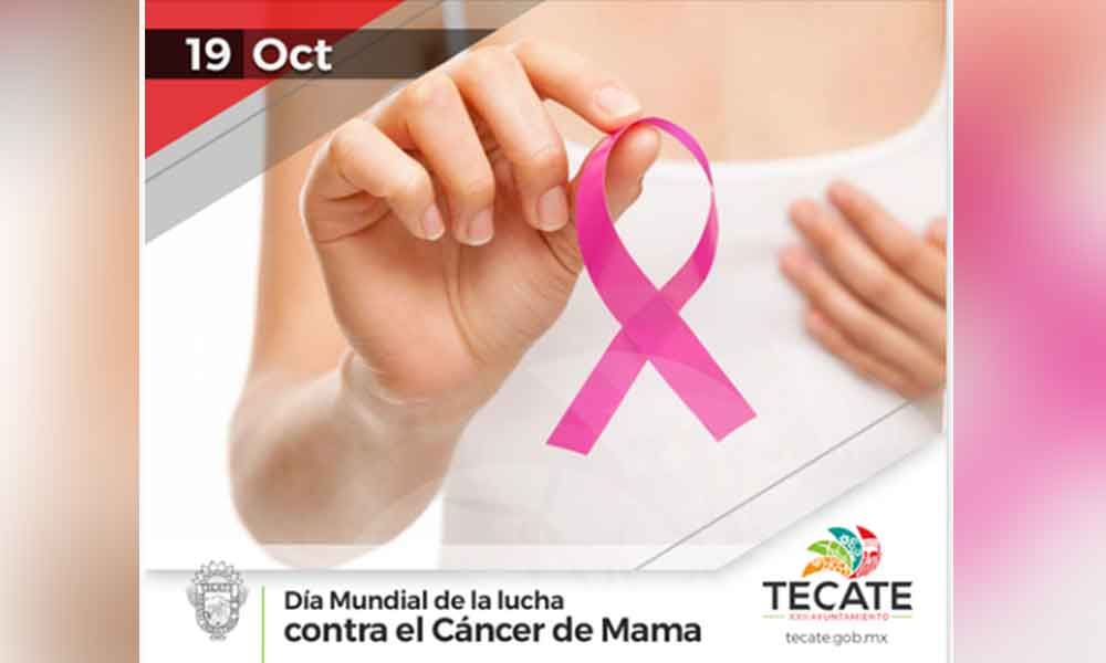 """En el """"Día Mundial Contra el Cáncer de Mama"""", exhortan en Tecate a la prevención y llevar un estilo de vida saludable"""