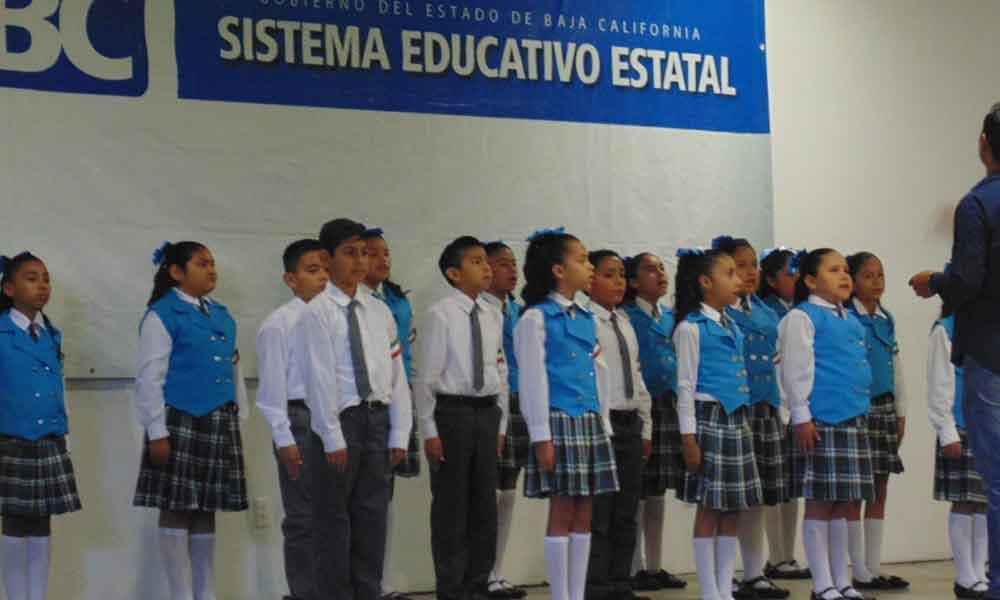 Escuelas de Tecate participaron en el III Concurso del Himno Nacional etapa municipal