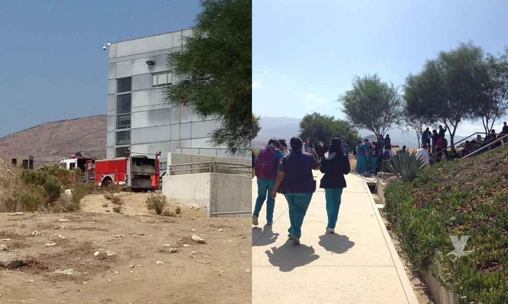 Evacuan a cientos de alumnos en UABC Valle de Las Palmas