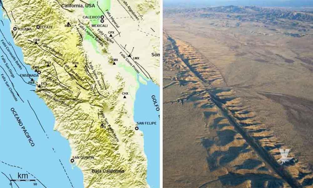Falla geológica une a EE UU con México: NASA