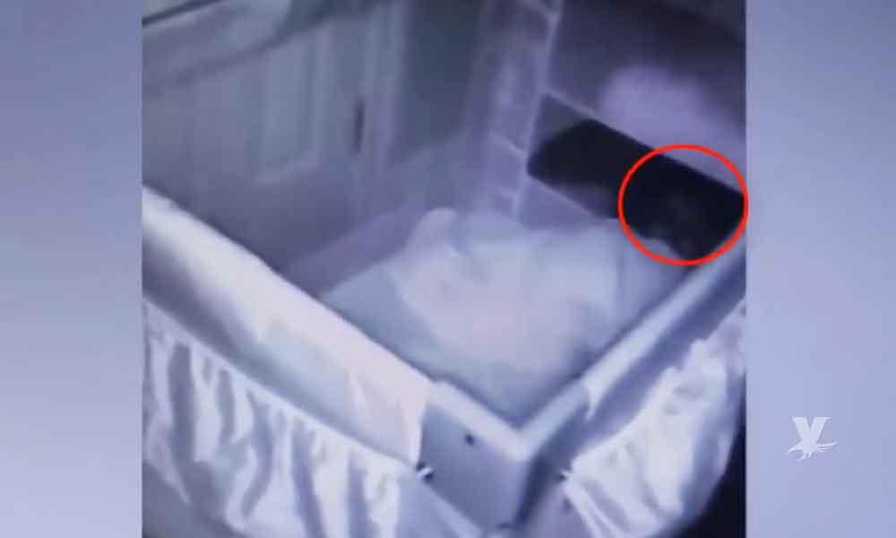 (VIDEO) Padres colocan cámara para descubrir porque lloraba su bebé y descubrieron algo que los sorprendió