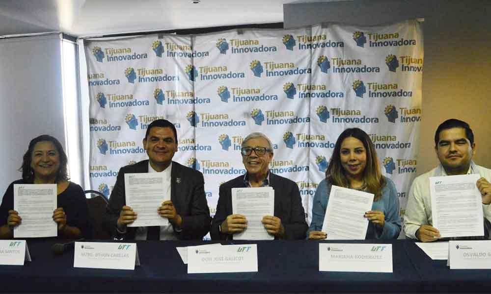 Firman convenio Tijuana Innovadora y UTT en pro de una juventud mejor preparada