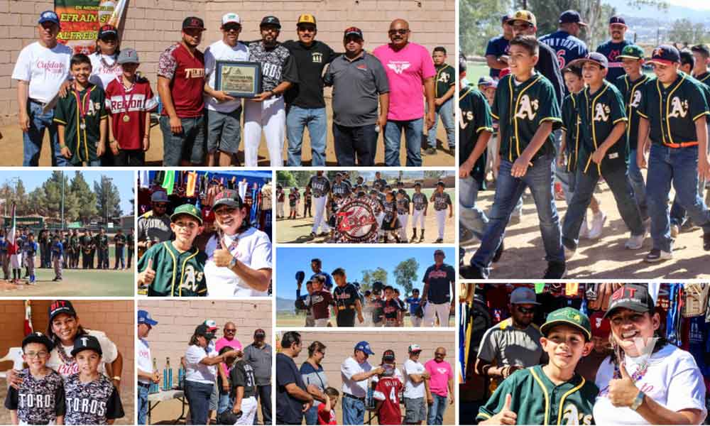 Inauguraron la Liga de Béisbol Infantil y Juvenil de Tecate temporada 2018-2019