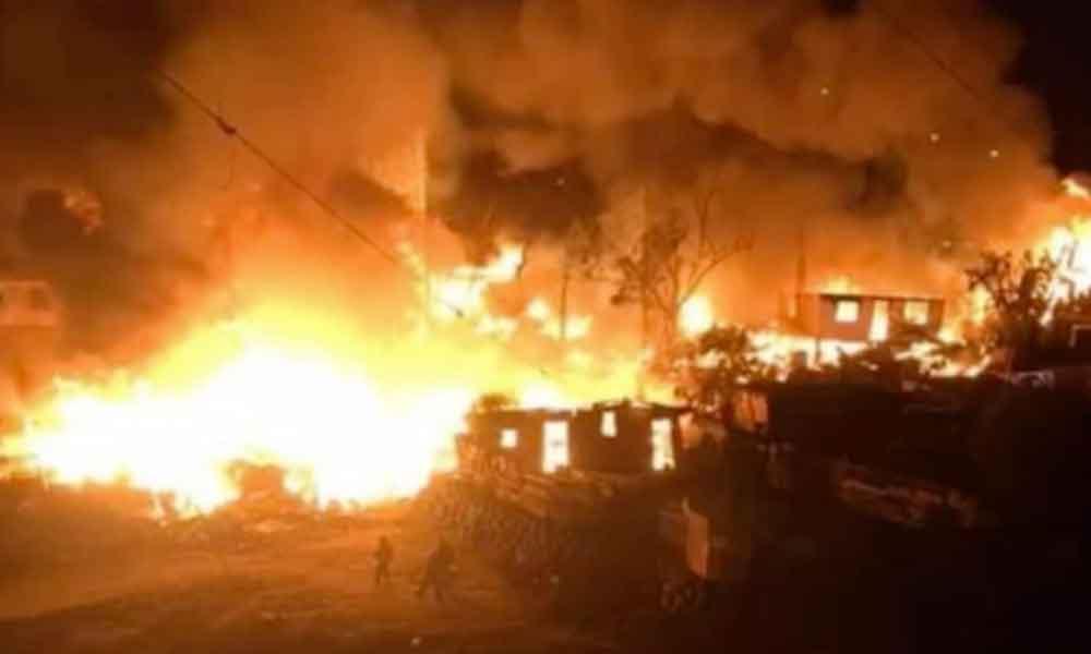 Incendio deja a 10 familias sin nada en la colonia Alfonso Garzón de Tijuana