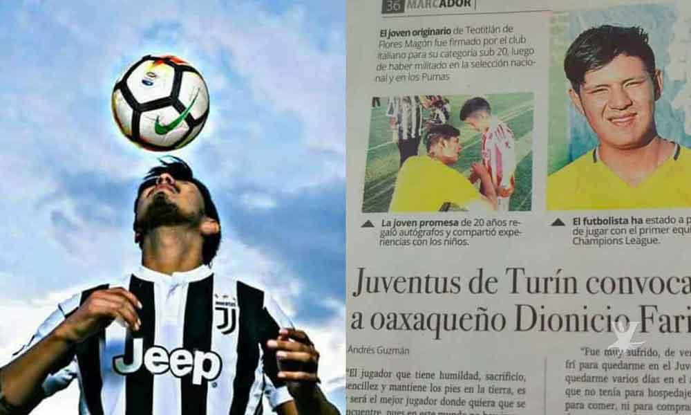 Hijo de político se hacía pasar por jugador de la Juventus para estafar a oaxaqueños