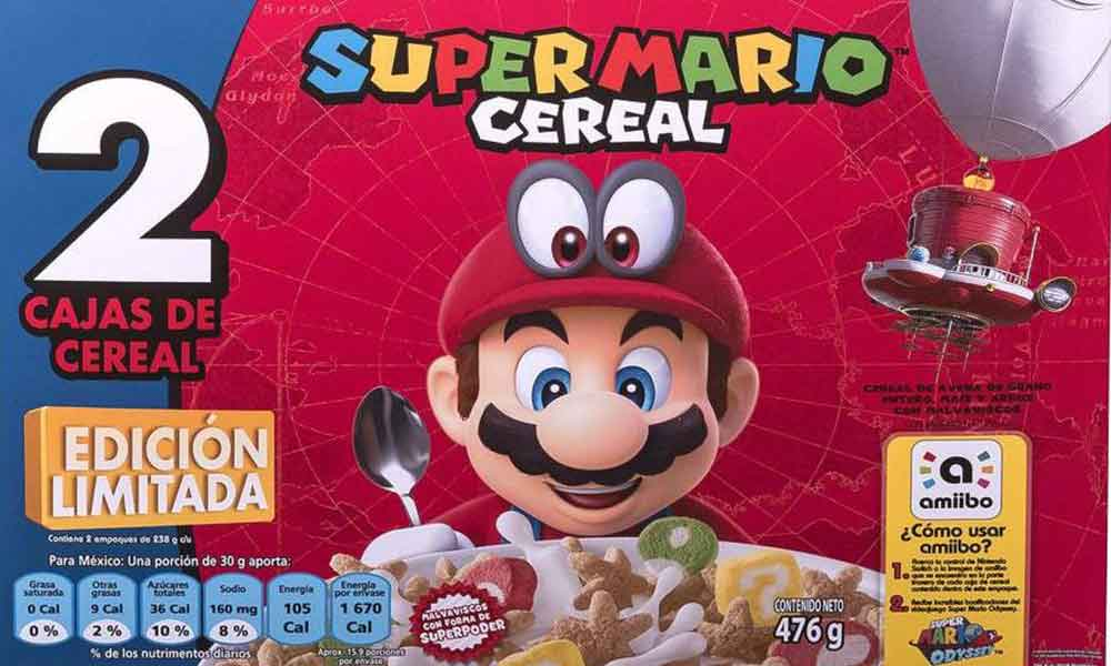 Llega el Cereal Super Mario a México, con sorpresas