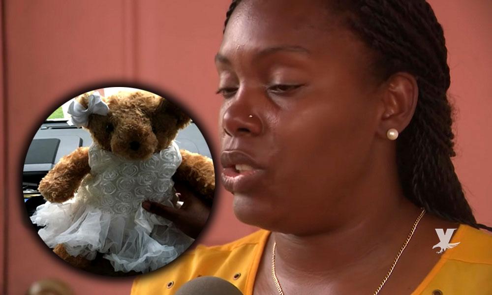 (VIDEO) Madre pide le devuelvan un oso que le fue robado, en su interior están las cenizas de su hija fallecida