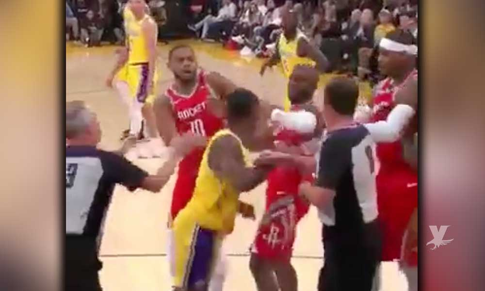 (VIDEO) Suspenden y multan a jugadores de la NBA por pelea