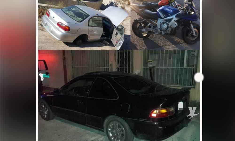Recuperan tres vehículos robados en Tijuana