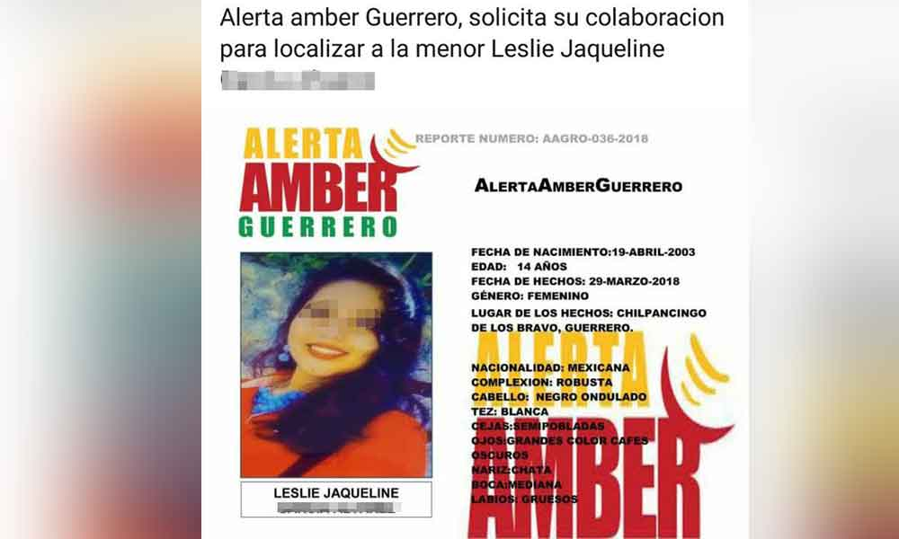 Rescatan en Tijuana a menor reportada desaparecida en Guerrero