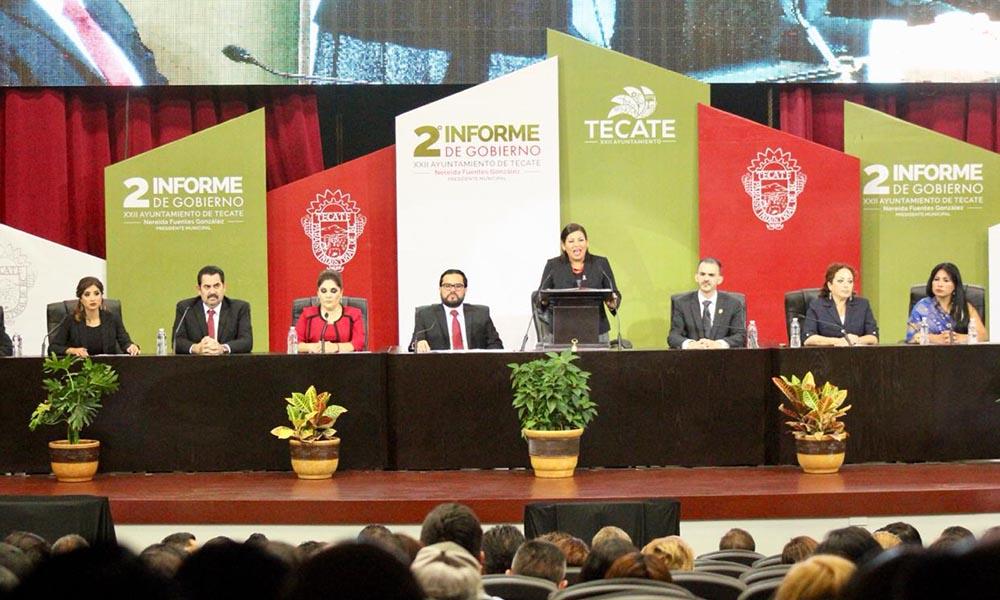 Rinde Nereida Fuentes Segundo Informe de Gobierno en Tecate