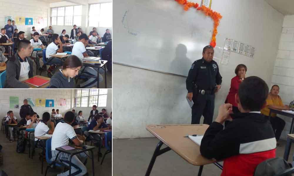 Seguridad Ciudadana imparte pláticas sobre las consecuencias del graffiti en Tecate