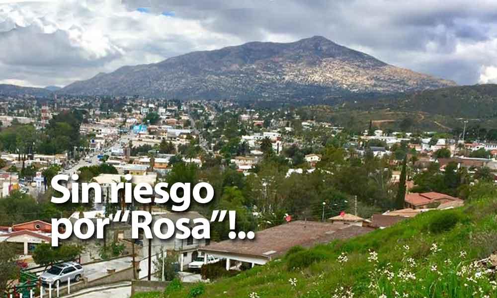 """Tecate no está en riesgo tras llegada de Tormenta Tropical """"Rosa"""": Protección Civil"""