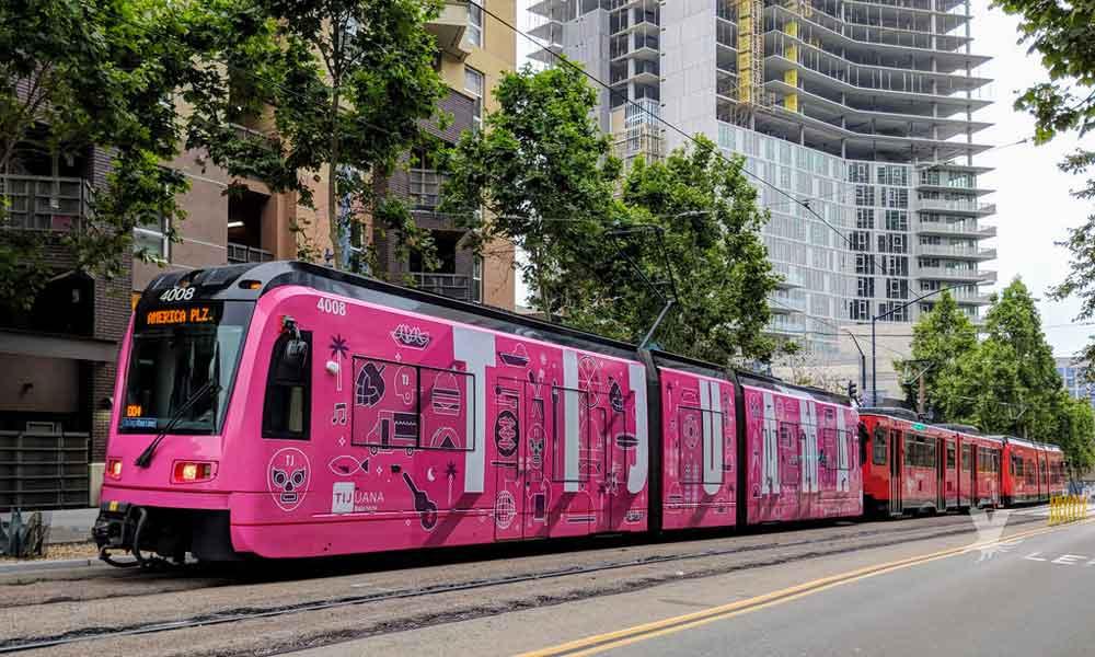 """Trolley de San Diego se """"vestirá"""" de Tijuana nuevamente en el 2019"""