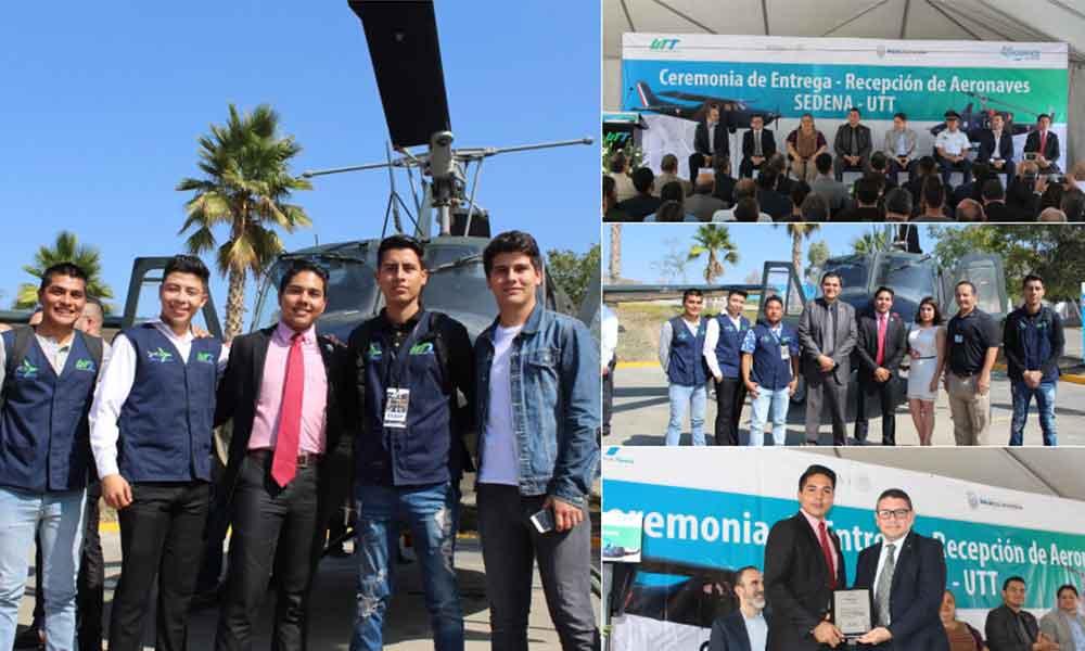 Donan a UTT aeronaves para el fortalecimiento de la educación superior