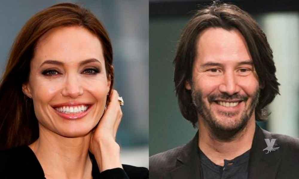 "Revelan romance ""secreto"" entre Angelina Jolie y Keanu Reeves"