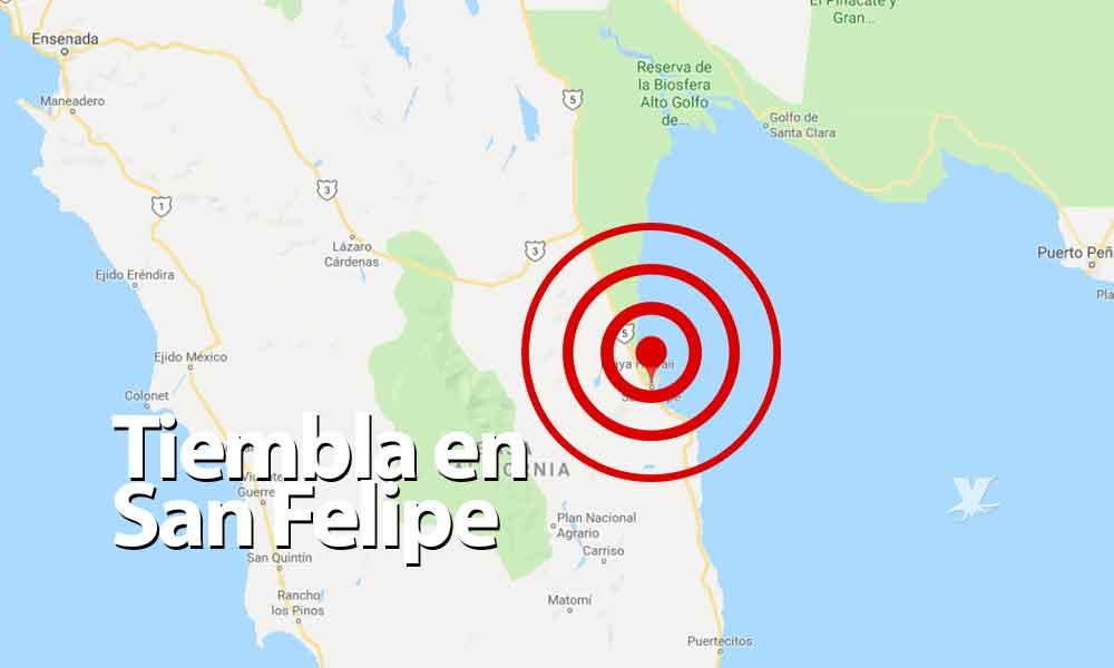 Se registra sismo de 4.0 en San Felipe