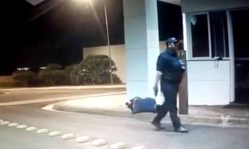 (VIDEO) Guardia de seguridad ejecuta a su compañero después de discutir
