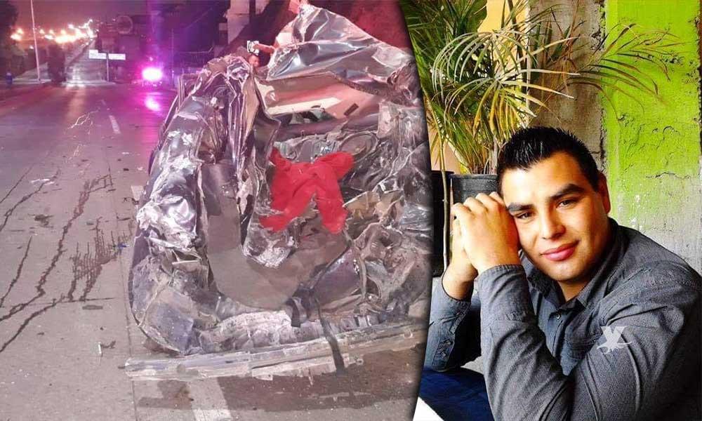 Fatal accidente, muere oficial de policía esta madrugada en Tijuana