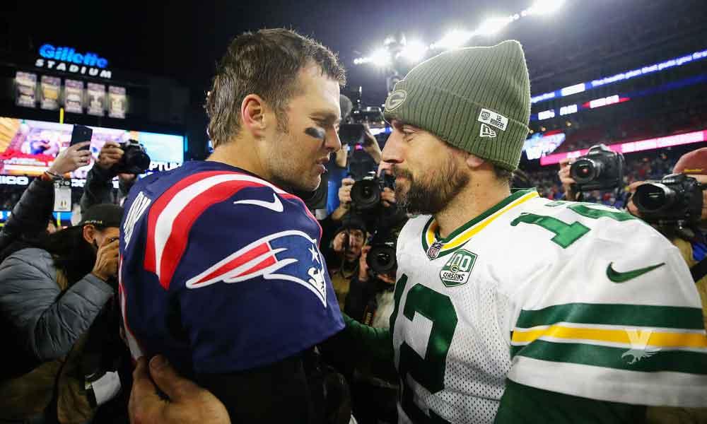 Tom Brady derrota a Aaron Rodgers por segunda ocasión en su carrera